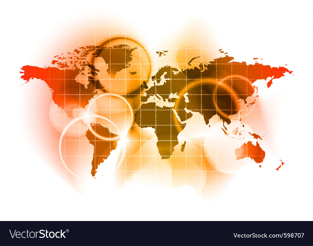 Red map of the world vector   Price: 1 Credit (USD $1)