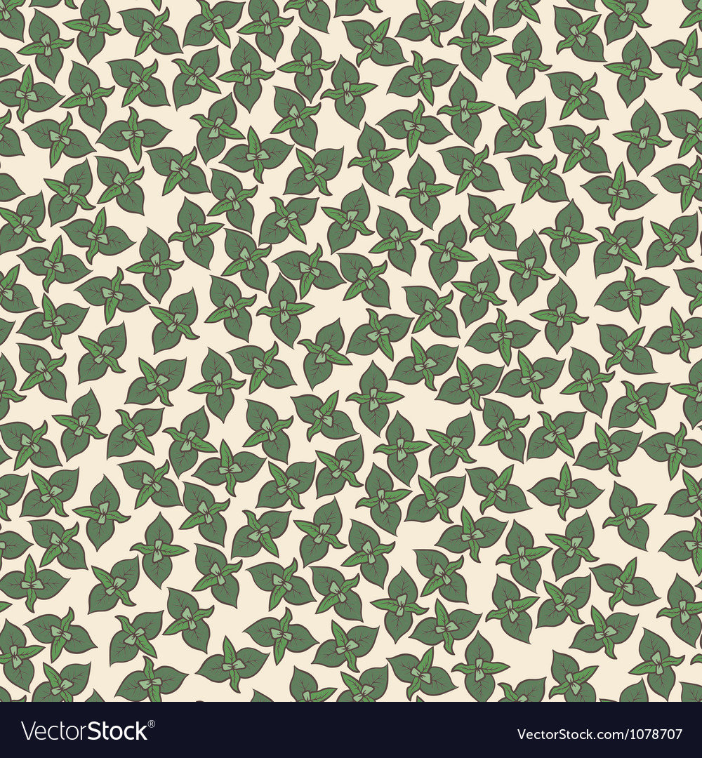 Seamless background pattern with mint leaves vector | Price: 1 Credit (USD $1)