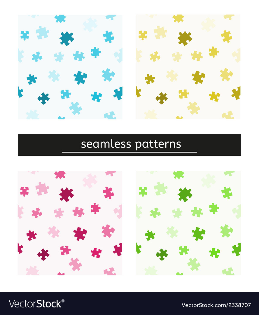 Seamless pattern with puzzle pieces vector | Price: 1 Credit (USD $1)