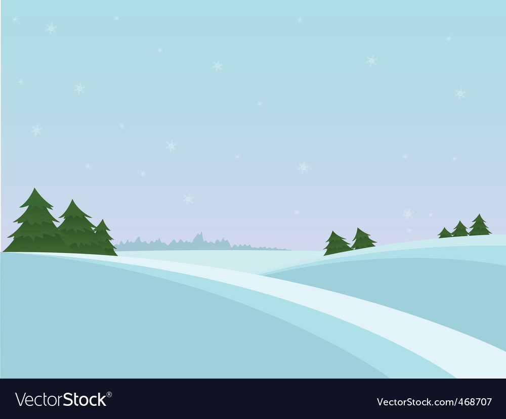 Snow christmas landscape vector | Price: 1 Credit (USD $1)