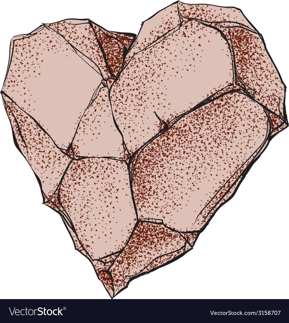 Stone heart vector | Price: 3 Credit (USD $3)