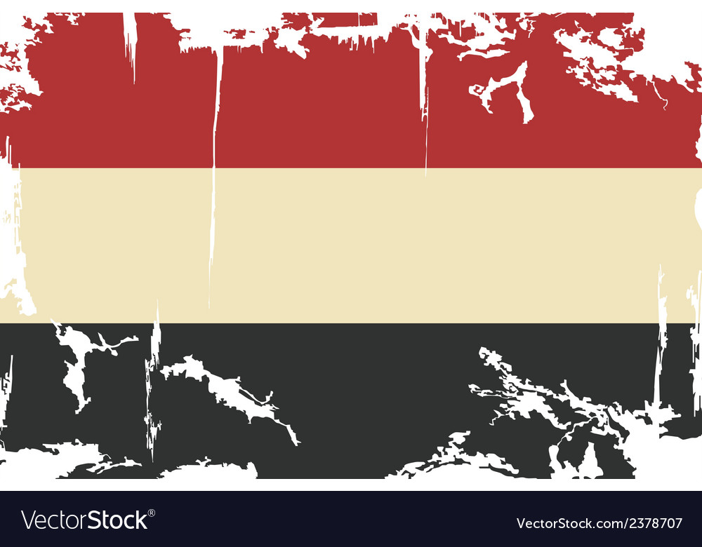 Yemen grunge flag vector | Price: 1 Credit (USD $1)