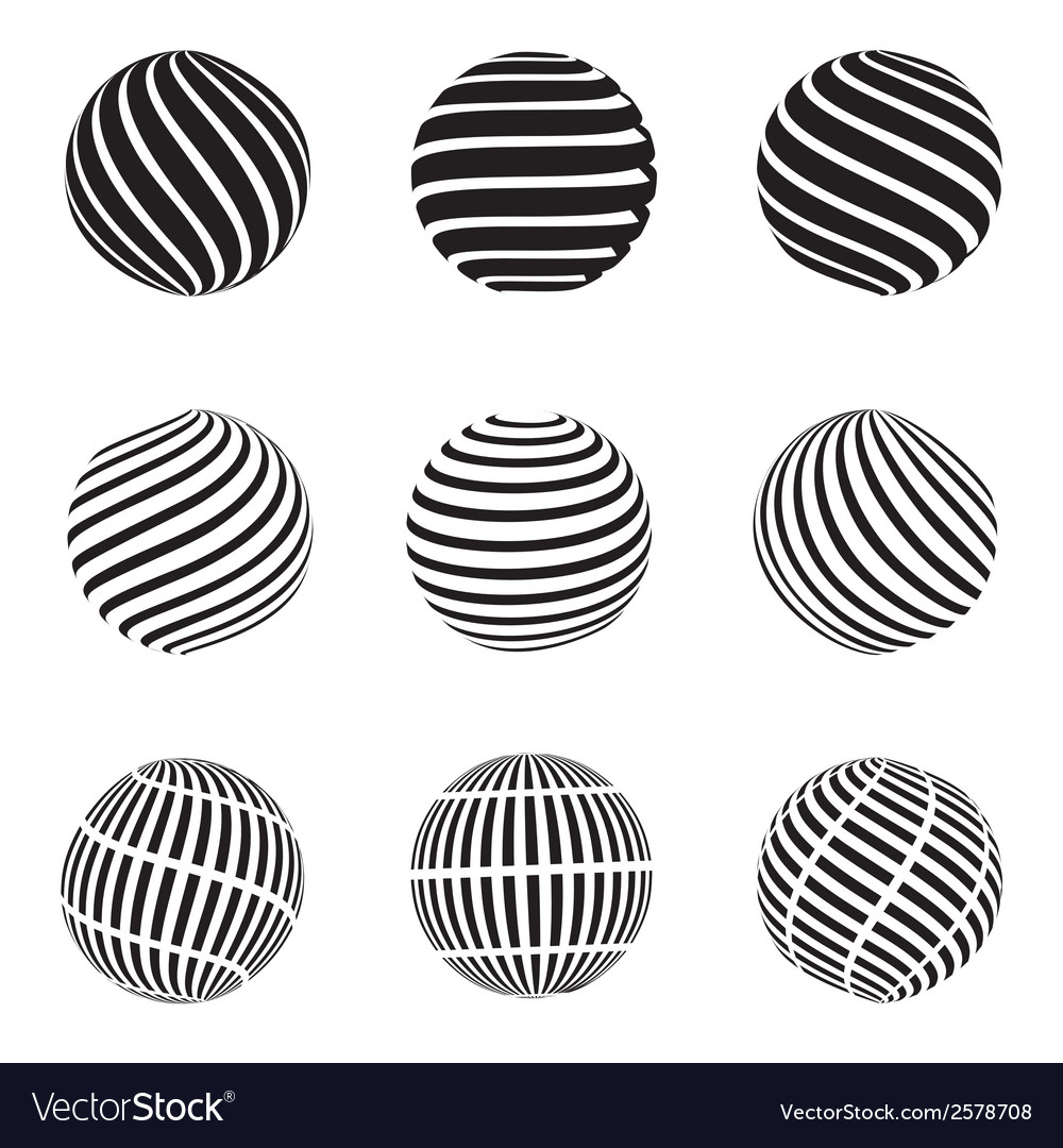 Abstract swirls sphere vector | Price: 1 Credit (USD $1)