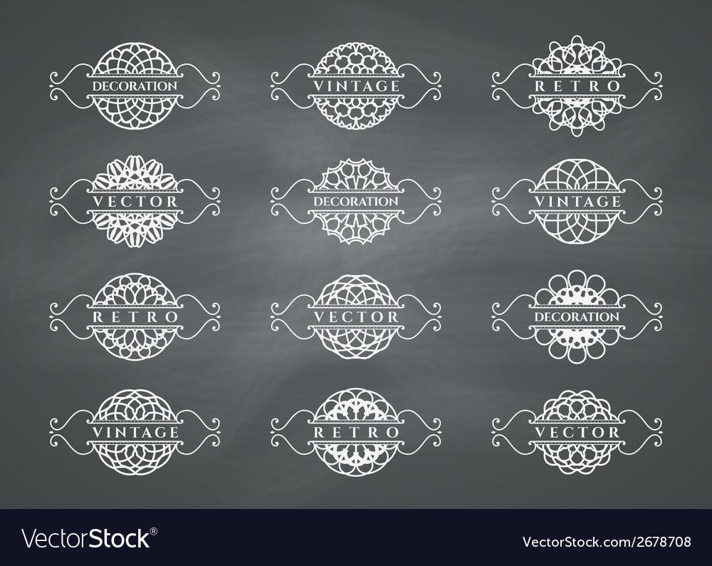 Calligraphic design elements vector | Price: 1 Credit (USD $1)