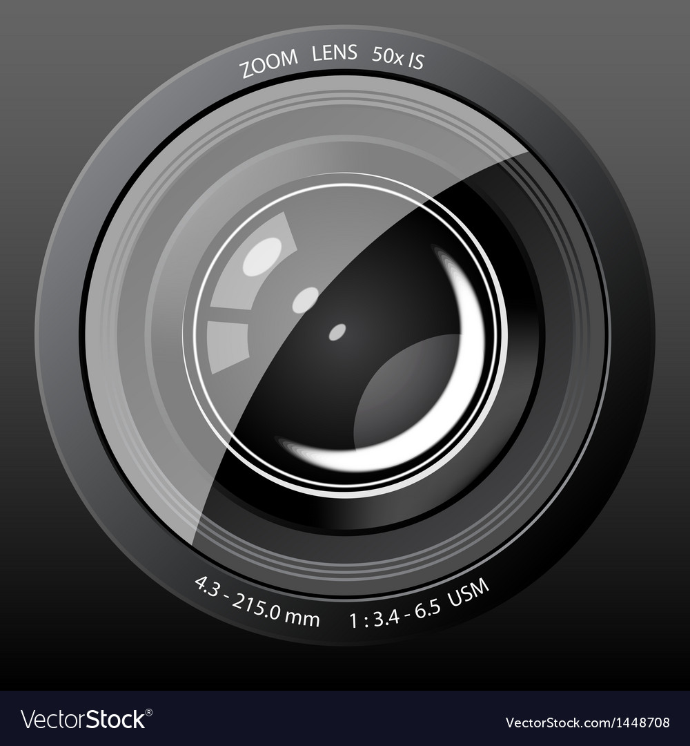 Camera lens icon vector | Price: 1 Credit (USD $1)