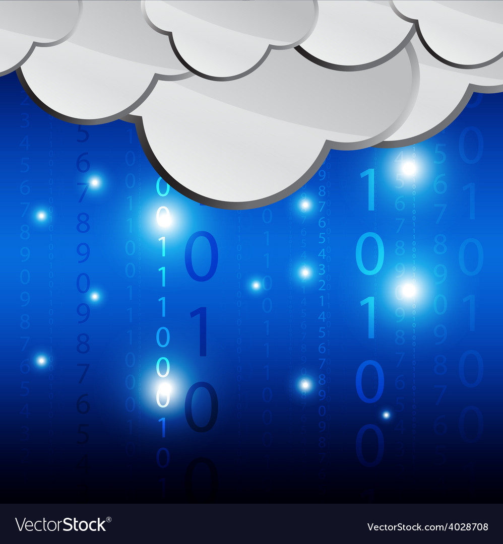 Cloud computing transfer data vector | Price: 1 Credit (USD $1)
