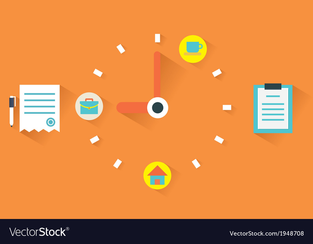 Concept of time management vector | Price: 1 Credit (USD $1)