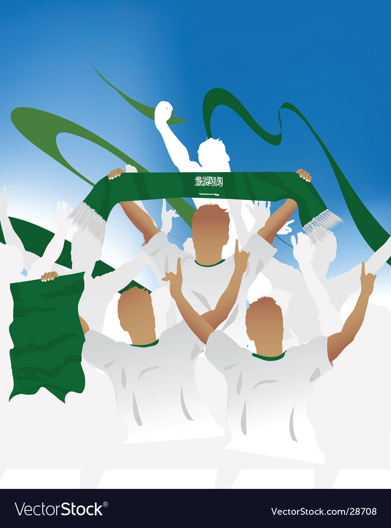 Saudi arabia crowd vector | Price: 1 Credit (USD $1)
