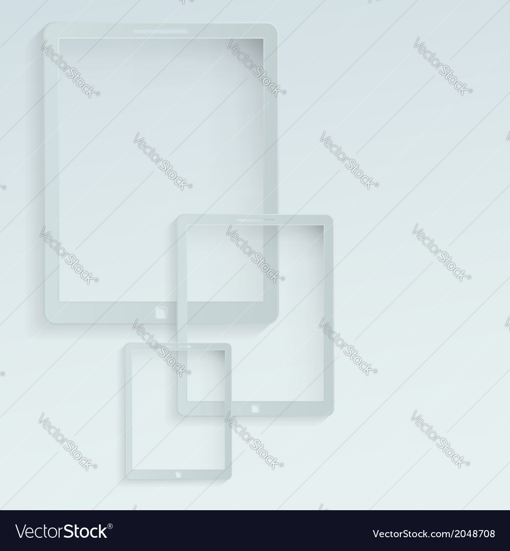 Tablet looking devices flat background vector   Price: 1 Credit (USD $1)