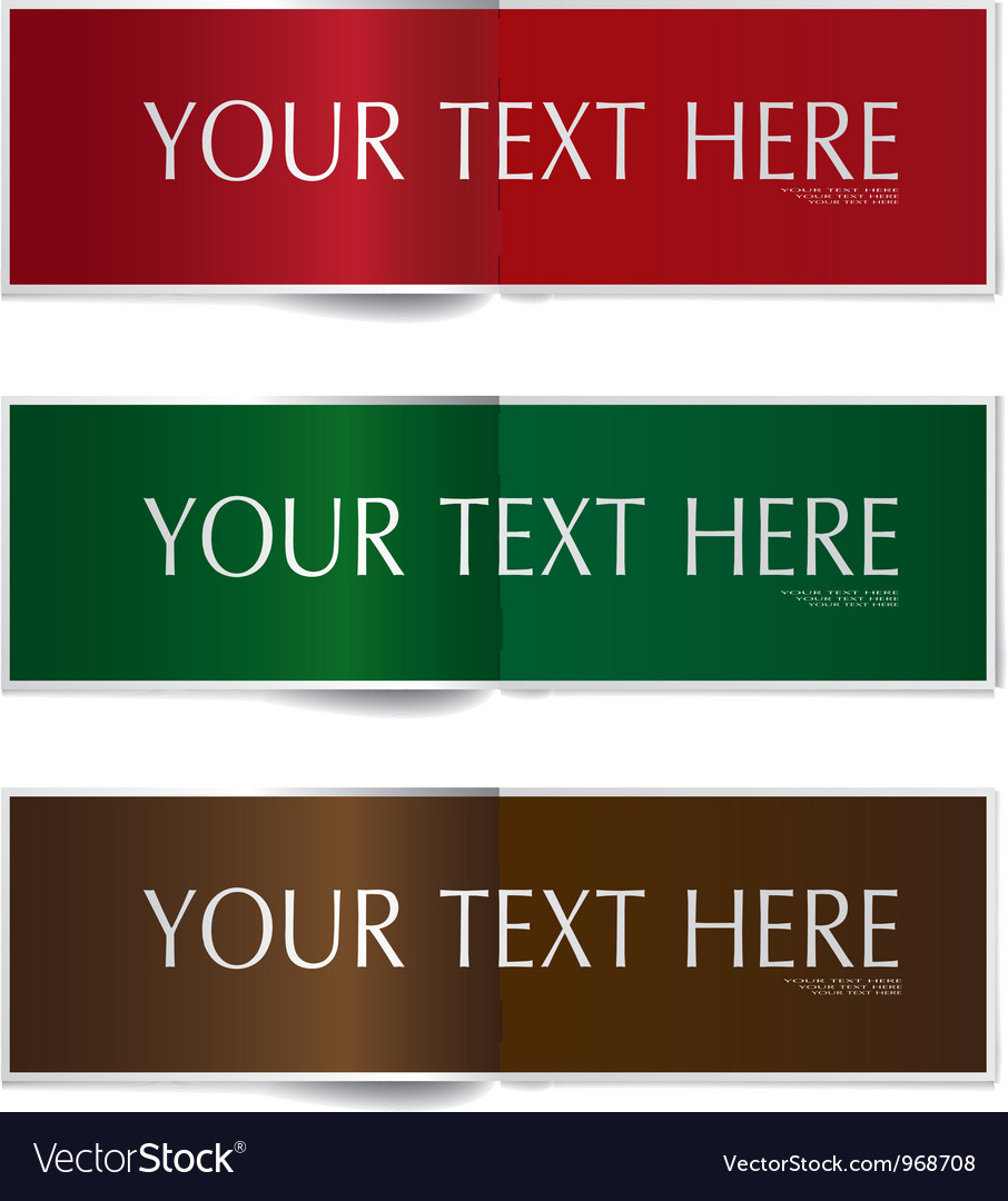 Template colorful open page banner set vector | Price: 1 Credit (USD $1)