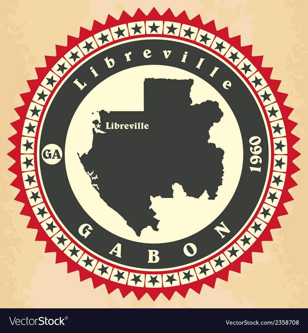 Vintage label-sticker cards of gabon vector   Price: 1 Credit (USD $1)