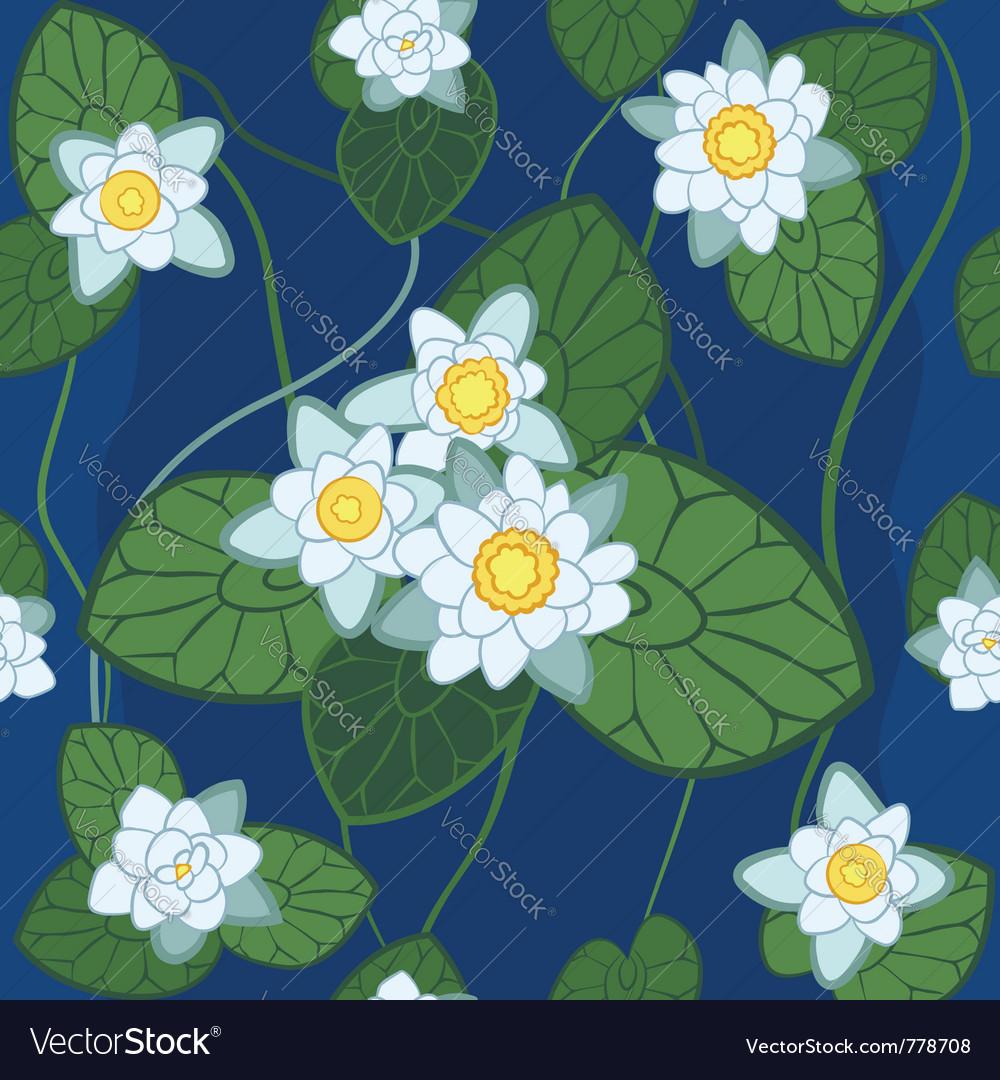 White lotus pattern vector | Price: 1 Credit (USD $1)