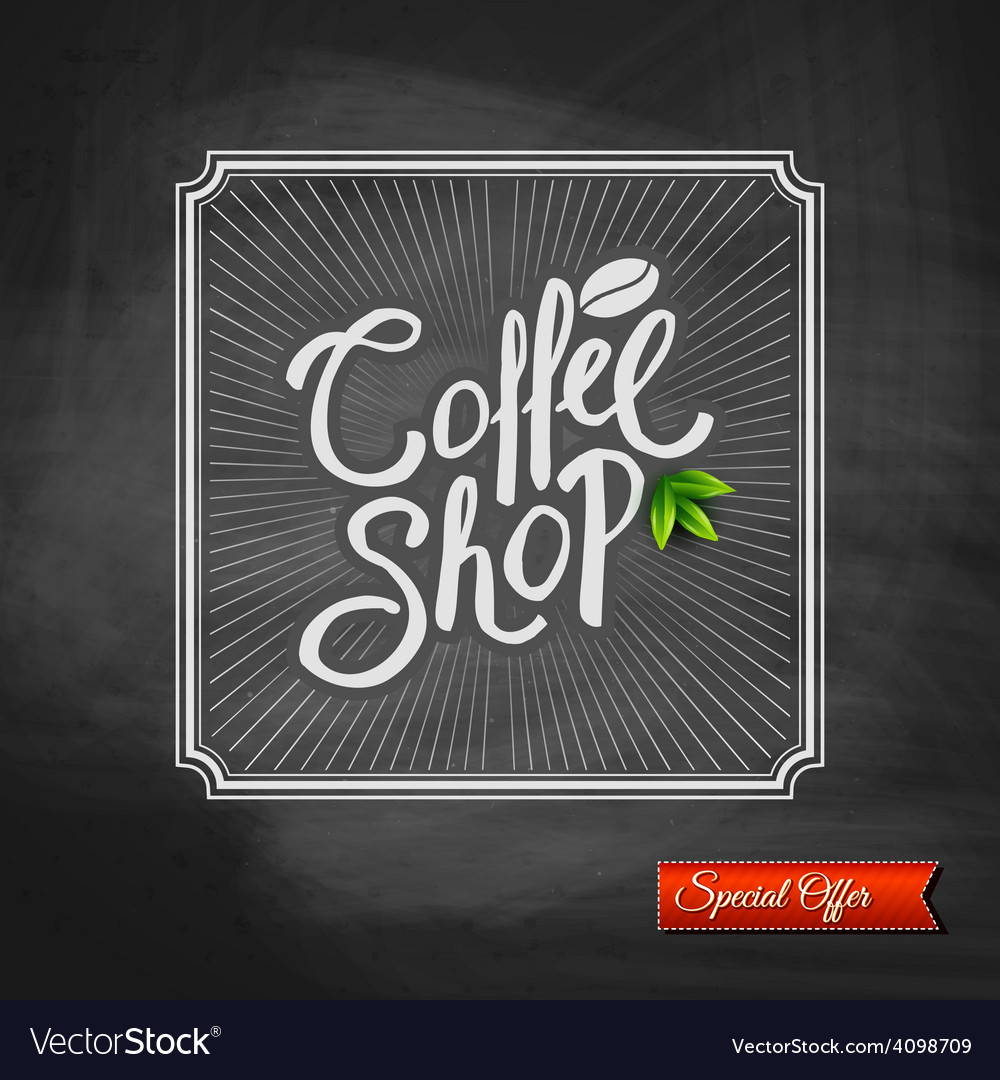 Coffee house special offer sign vector | Price: 1 Credit (USD $1)
