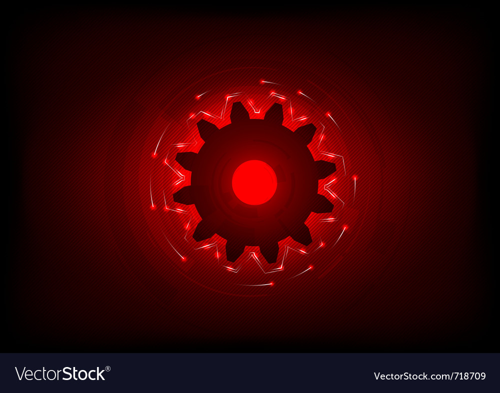 Cogwheel on the red background vector | Price: 1 Credit (USD $1)