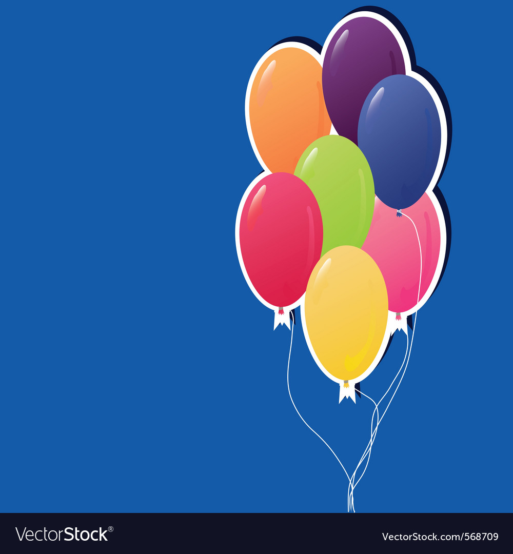 Colorful party balloons vector | Price: 1 Credit (USD $1)