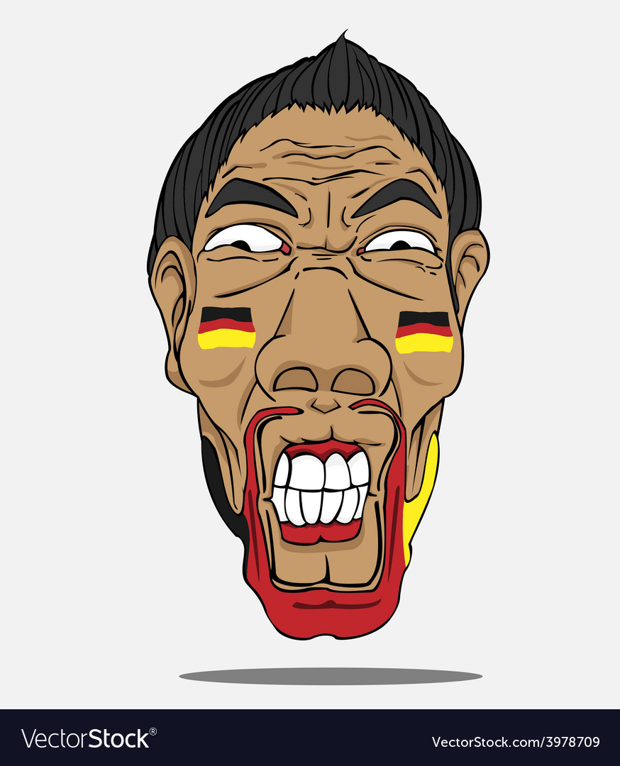 Football fan from german vector | Price: 1 Credit (USD $1)