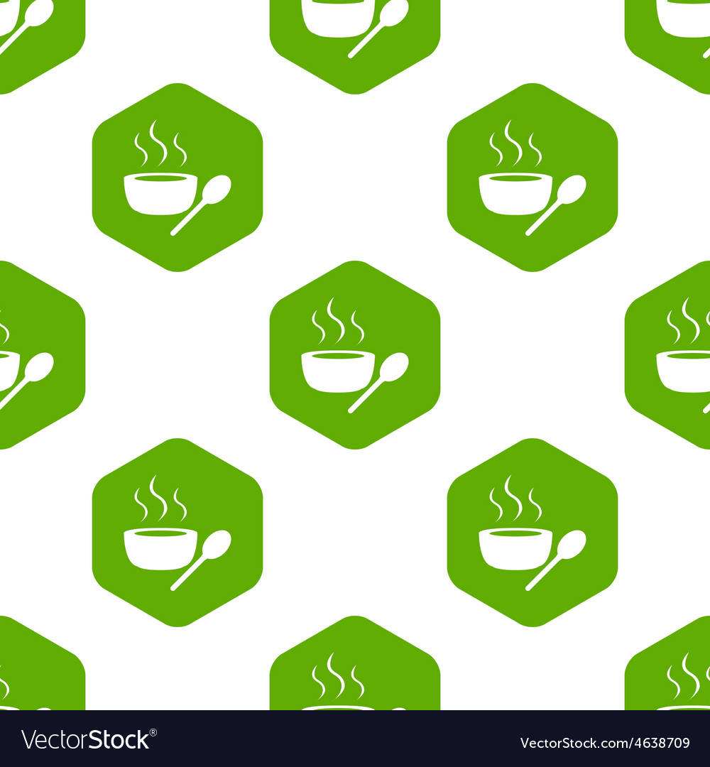 Hot soup pattern vector | Price: 1 Credit (USD $1)