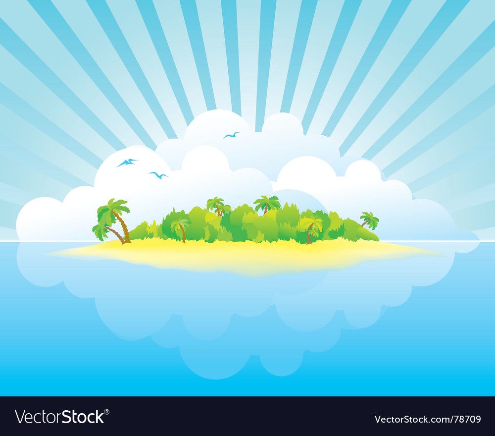 Island paradise vector | Price: 1 Credit (USD $1)