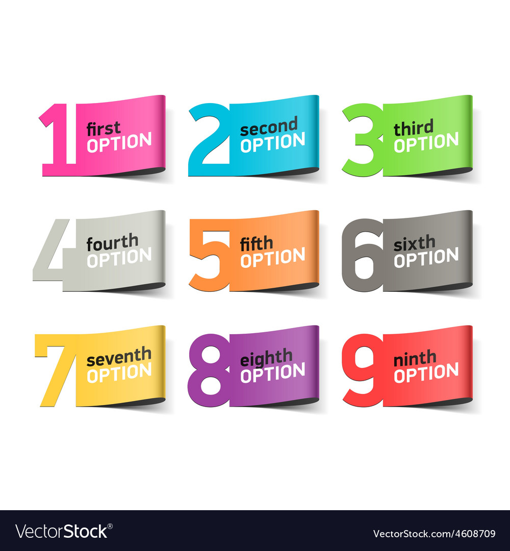 Options numbers infographics element vector | Price: 1 Credit (USD $1)