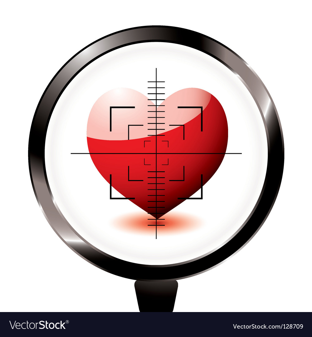 Rifle target heart icon vector | Price: 1 Credit (USD $1)