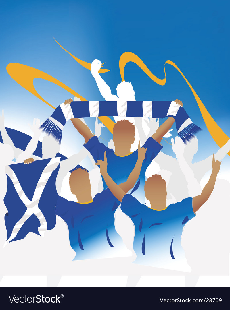 Scottish crowd vector | Price: 1 Credit (USD $1)