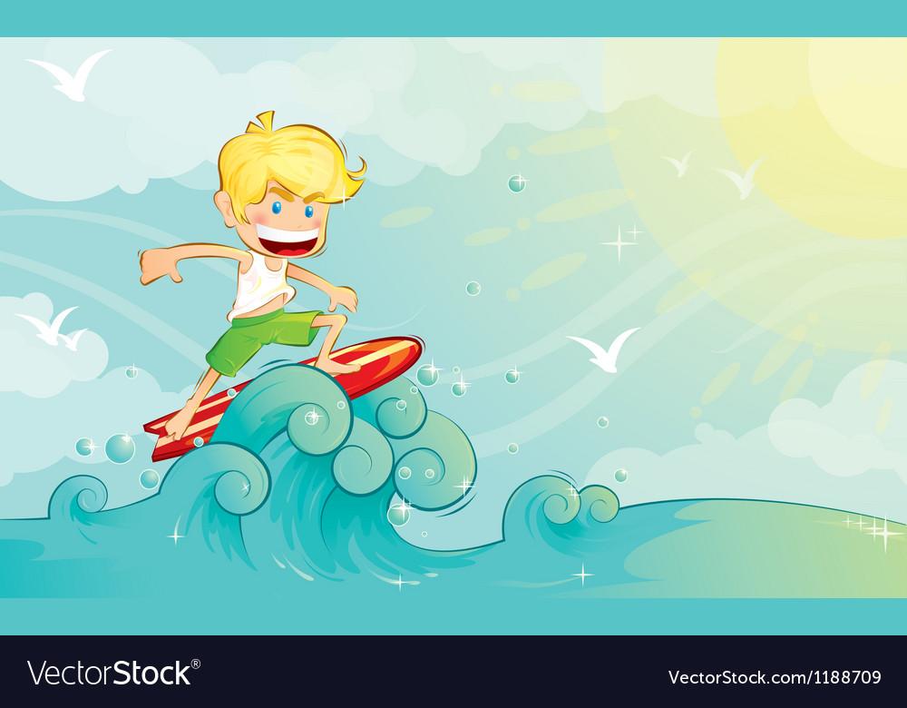 Surf boy vector | Price: 3 Credit (USD $3)