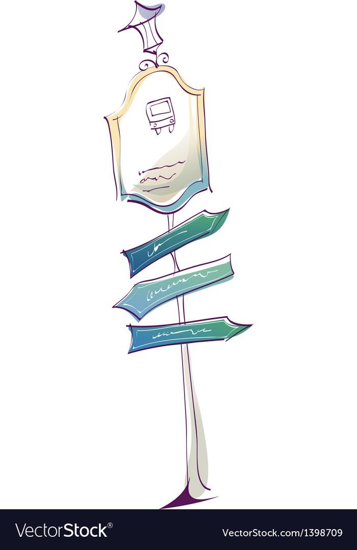 Vintage streetlamp sketch vector | Price: 1 Credit (USD $1)