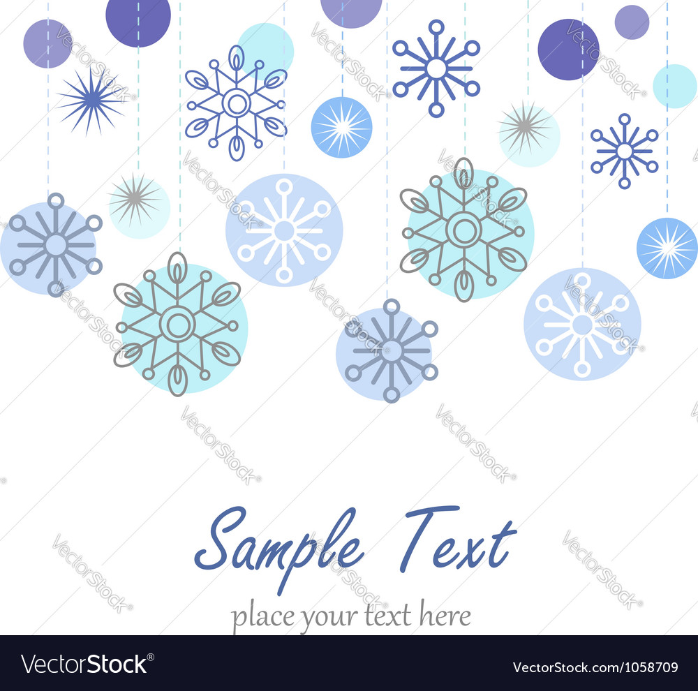 Winter background with snowflakes vector | Price: 1 Credit (USD $1)