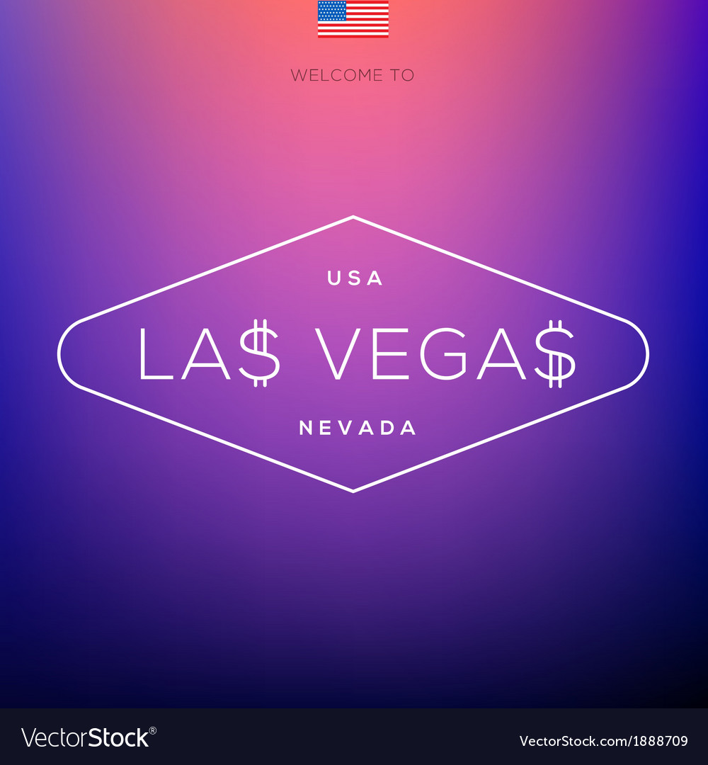 World cities labels - las vegas vector | Price: 1 Credit (USD $1)
