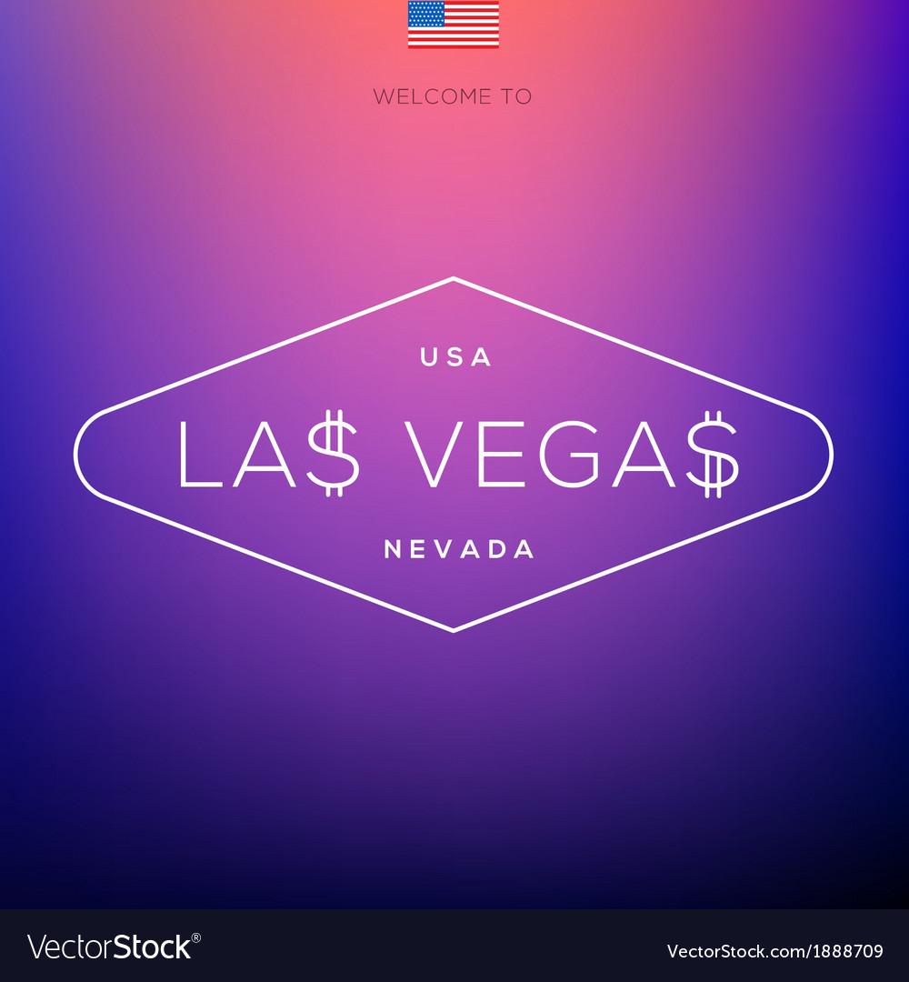 World cities labels - las vegas vector