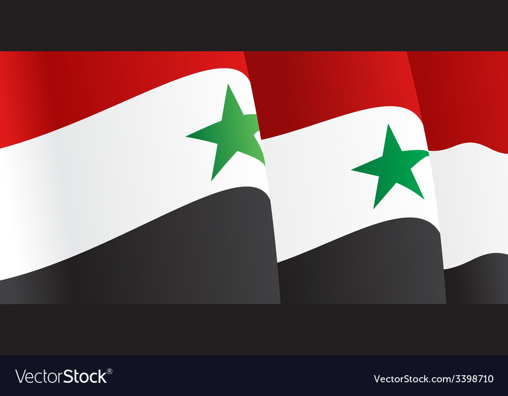 Background with waving syrian flag vector | Price: 1 Credit (USD $1)