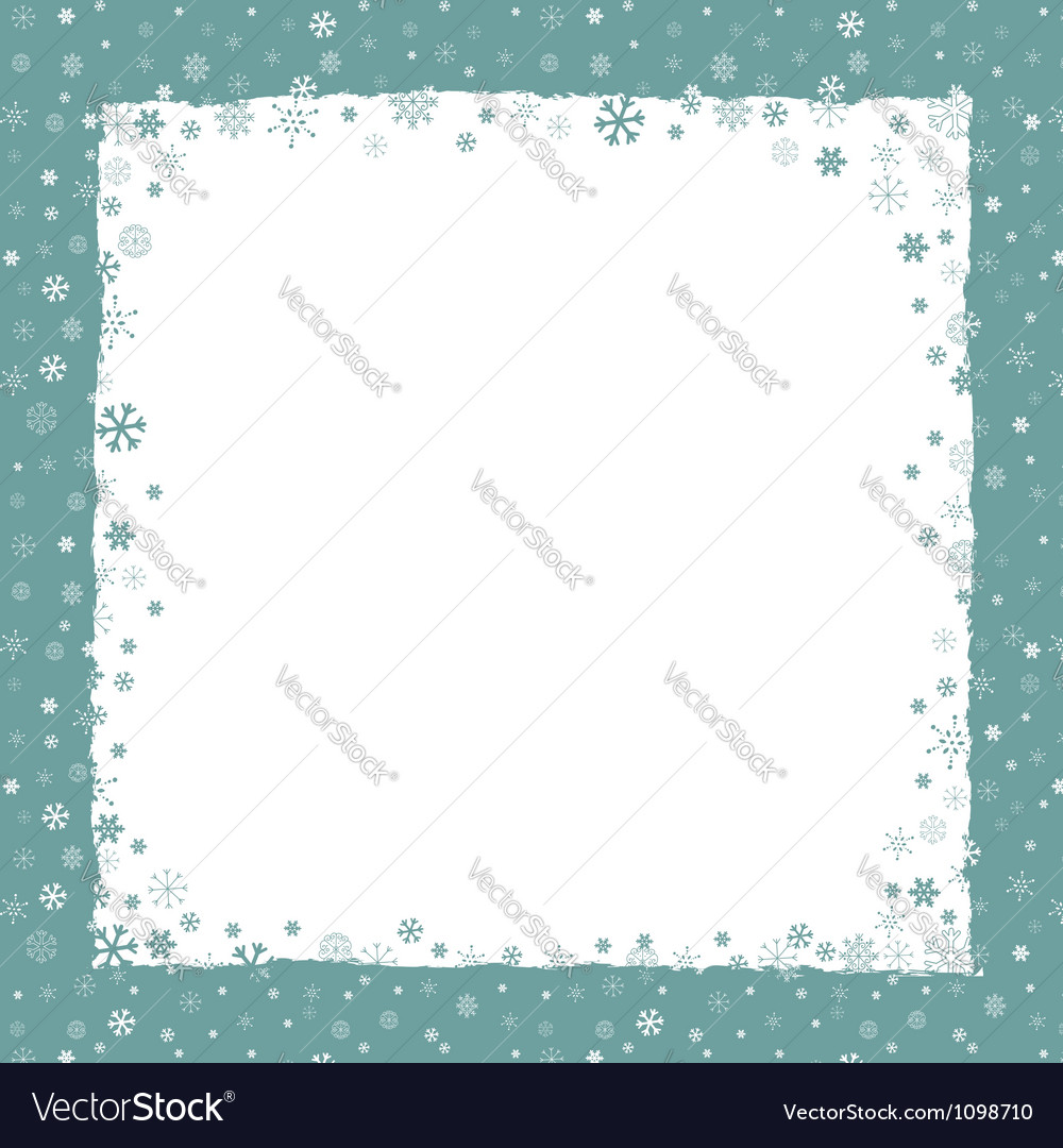 Christmas background with snowflakes border vector | Price: 1 Credit (USD $1)