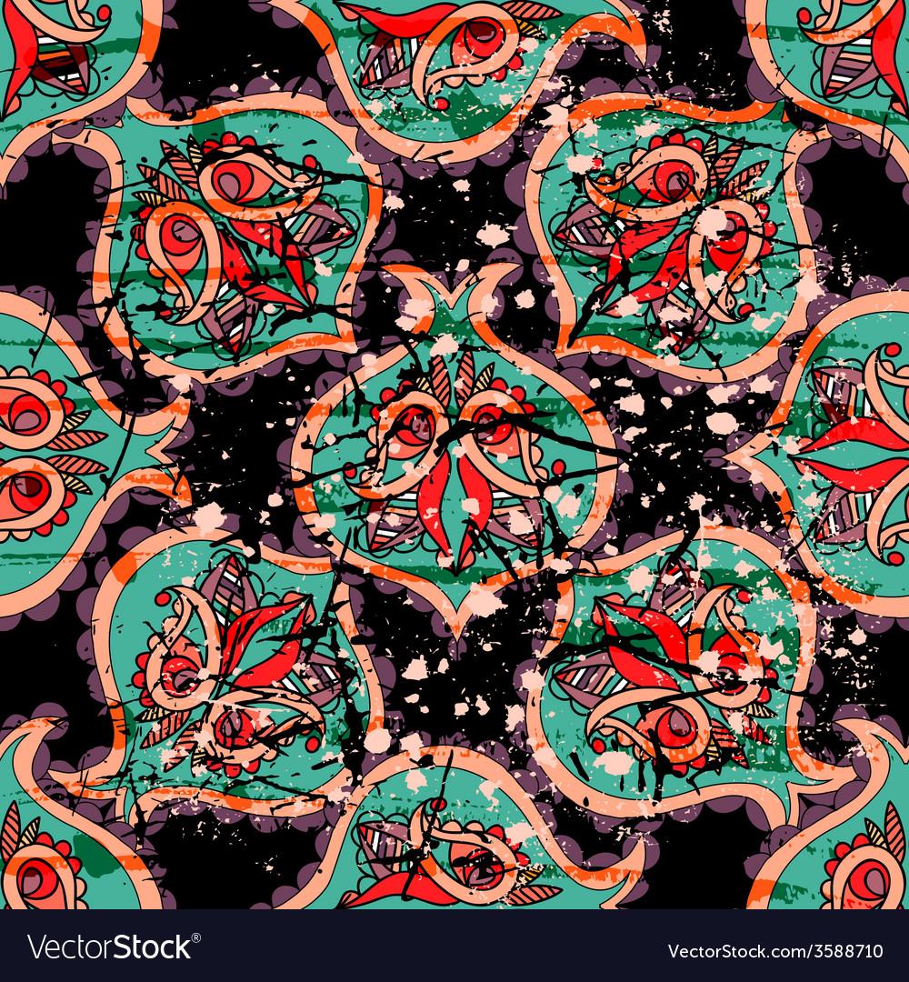Decorative seamless pattern background elegant vector | Price: 1 Credit (USD $1)