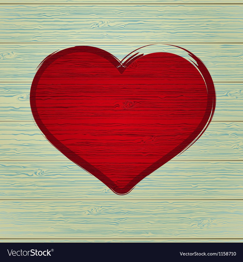 Drawing love symbol on old wooden  eps8 vector | Price: 1 Credit (USD $1)