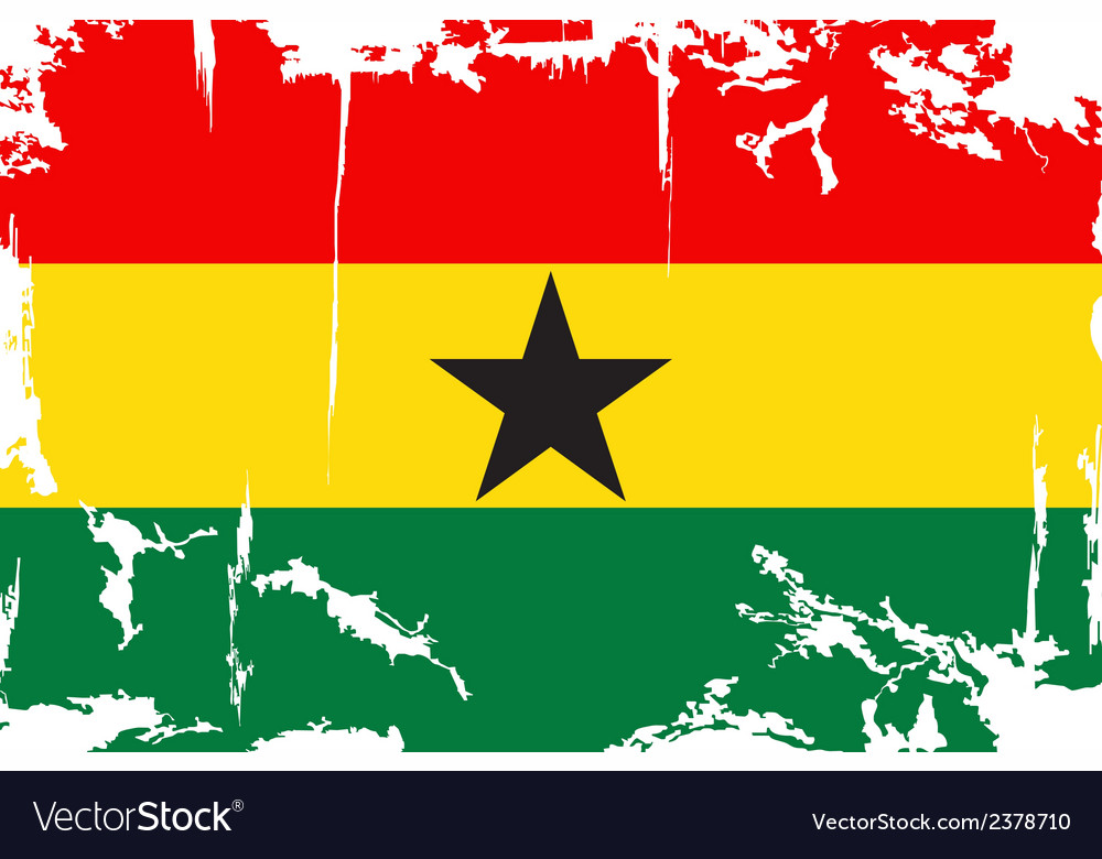 Ghana grunge flag vector | Price: 1 Credit (USD $1)