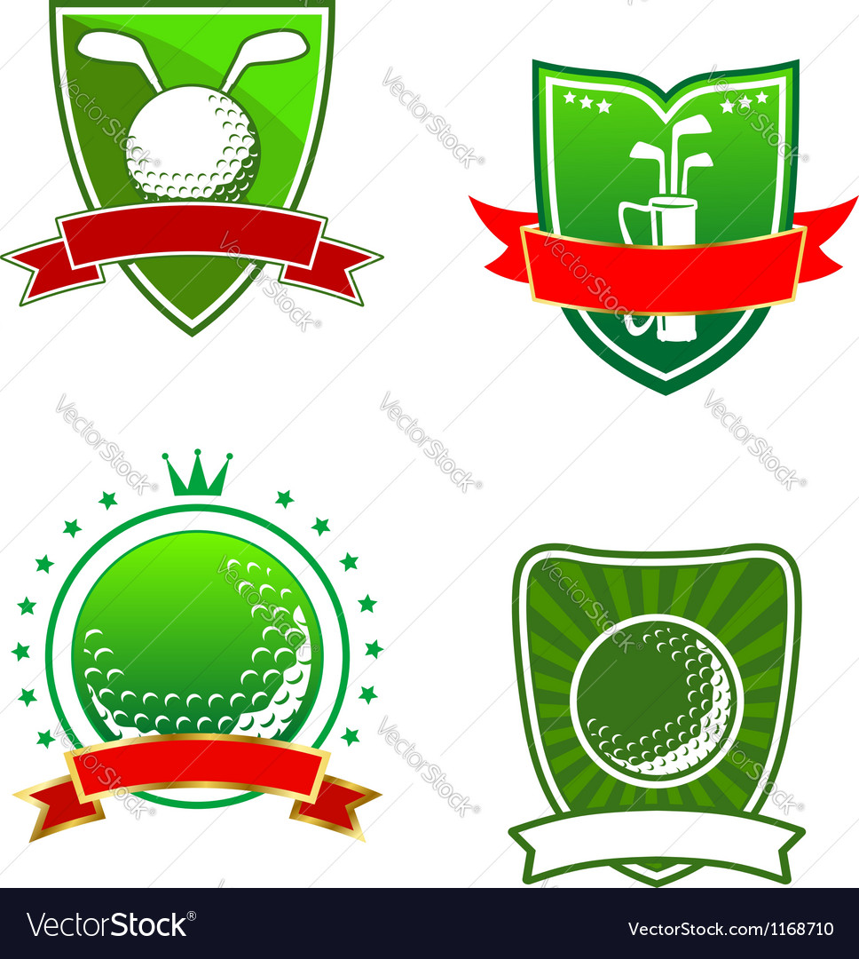 Golf emblems and symbols vector | Price: 1 Credit (USD $1)