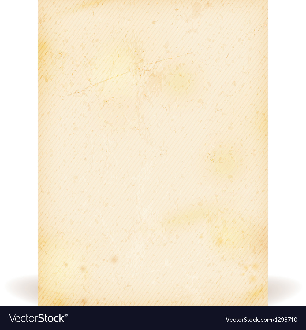 Grunge texture old parchment vector