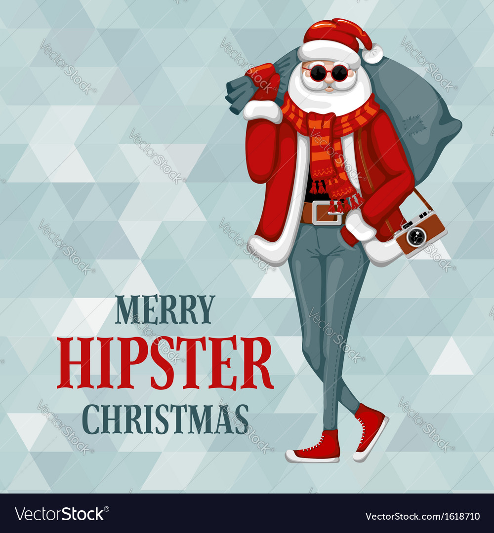 Hipster christmas vector   Price: 1 Credit (USD $1)