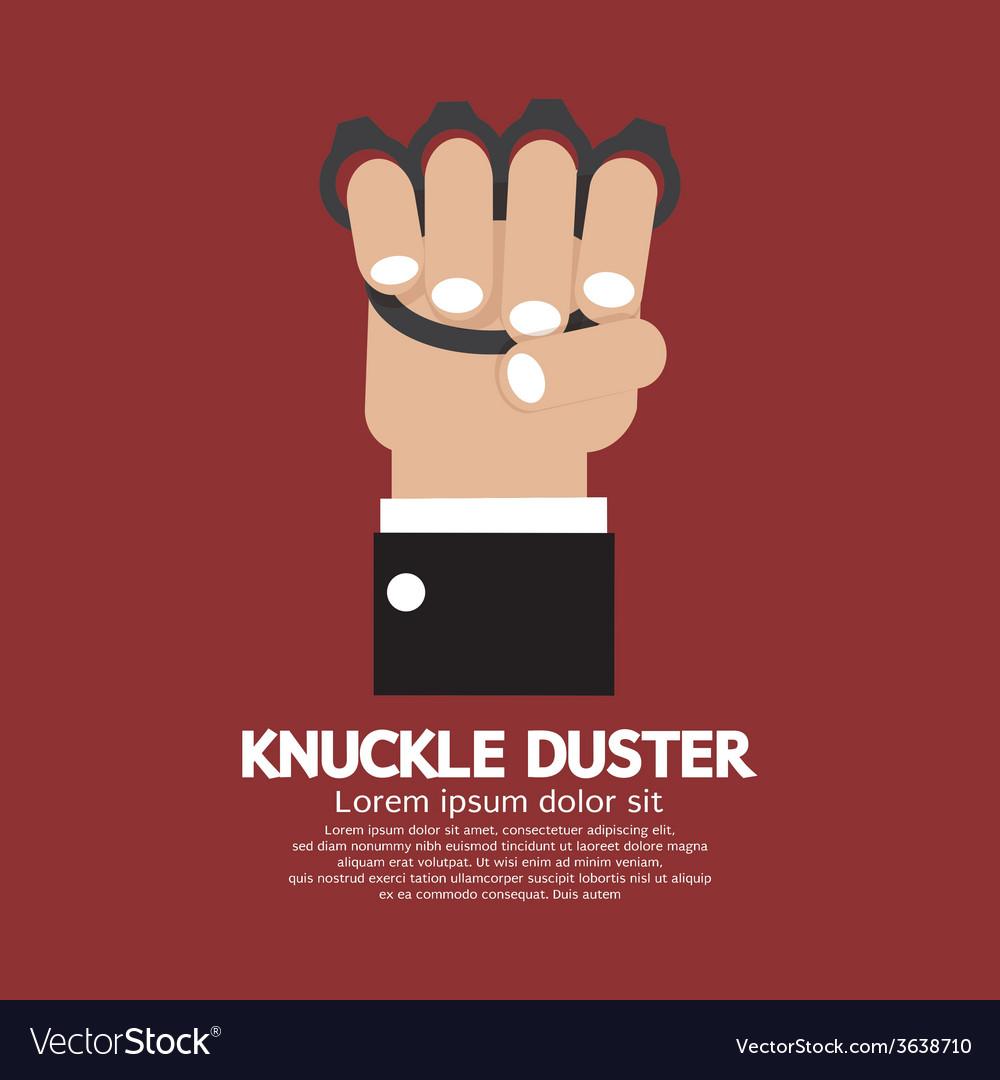 Knuckle duster in hand graphic vector | Price: 1 Credit (USD $1)