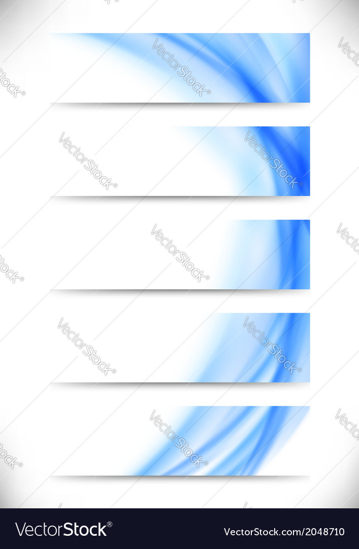 Modern wave lines background collection vector | Price: 1 Credit (USD $1)