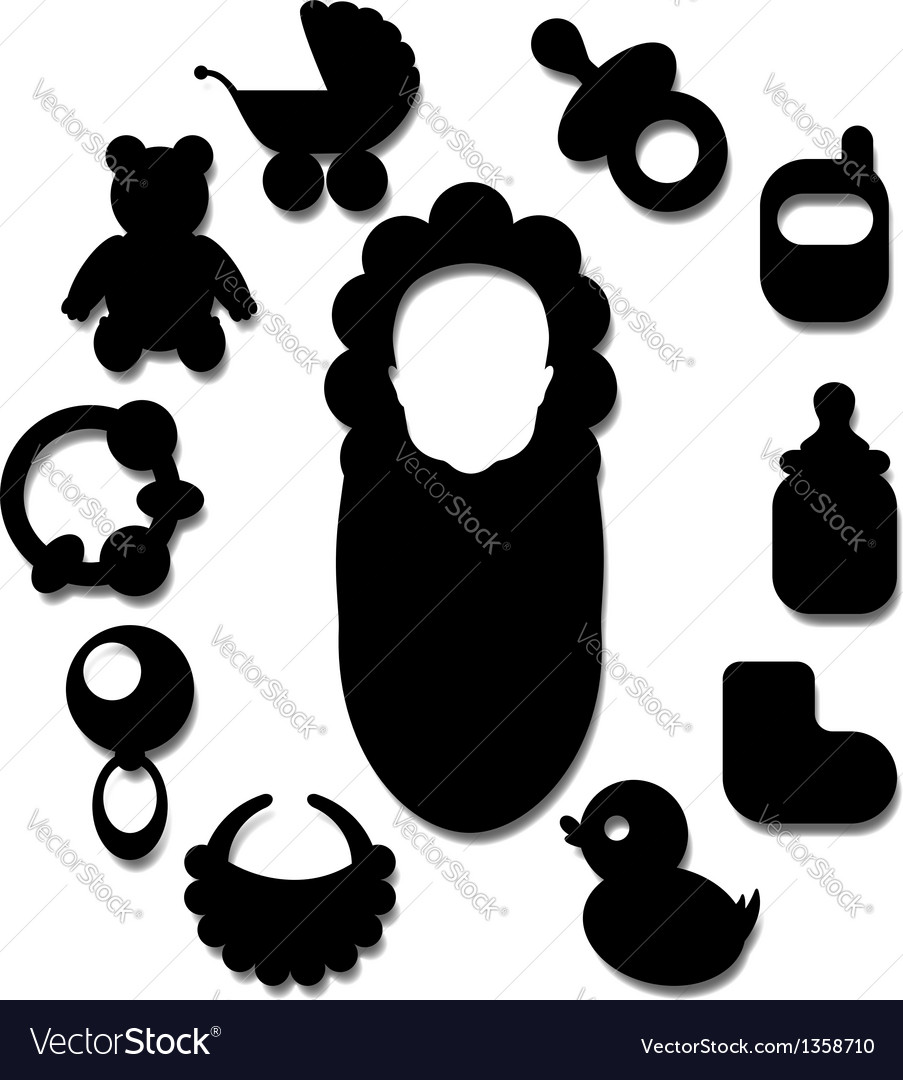 New born baby icons vector | Price: 1 Credit (USD $1)