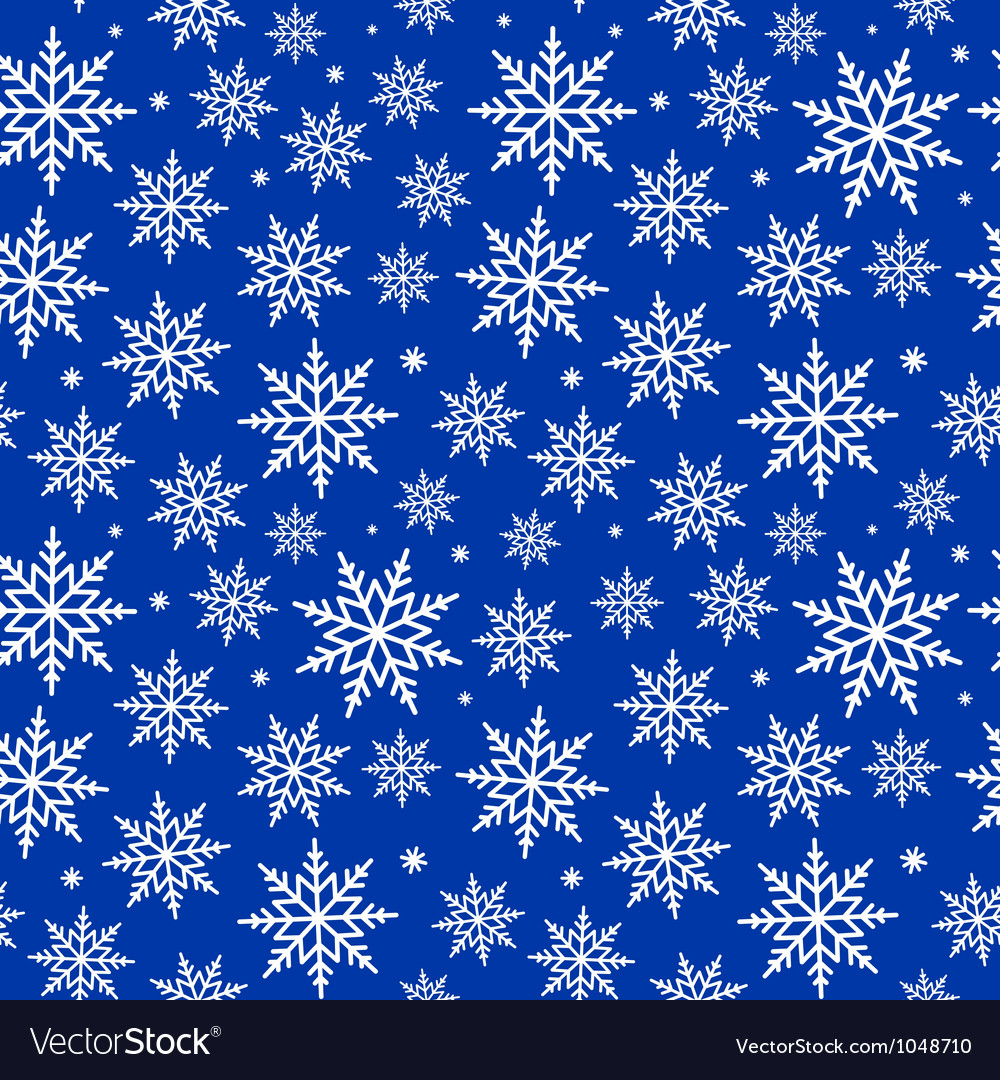 Seamless snowflakes background pattern vector | Price: 1 Credit (USD $1)