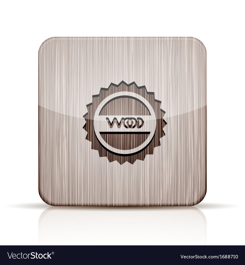 Wooden app icon on white background eps 10 vector | Price: 1 Credit (USD $1)