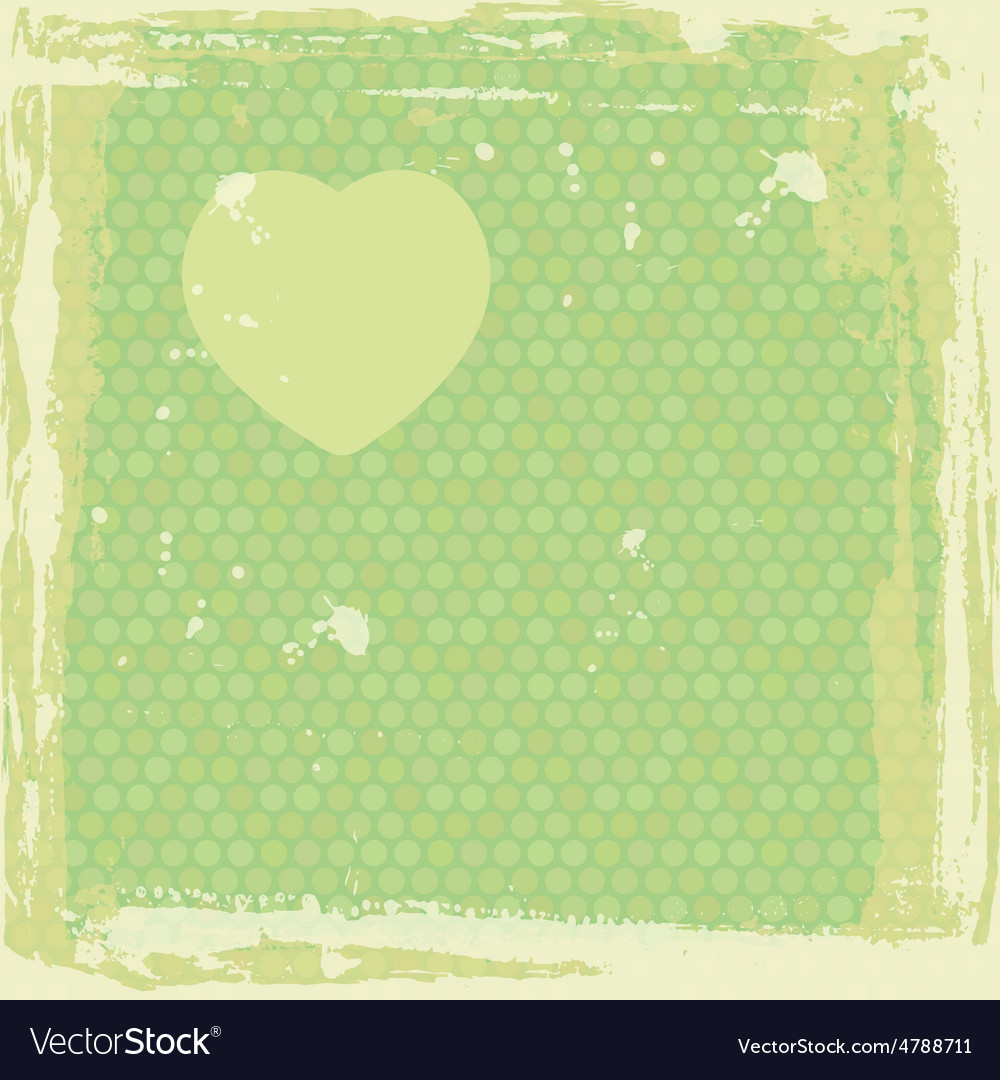 Abstract grunge frame silhouette of heart on vector | Price: 1 Credit (USD $1)