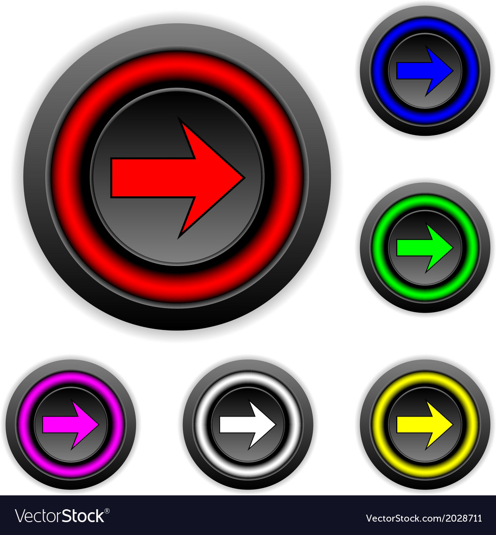 Arrow sign buttons set vector   Price: 1 Credit (USD $1)