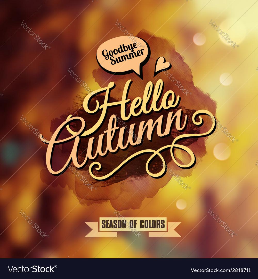 Autumn blurred background vector | Price: 1 Credit (USD $1)