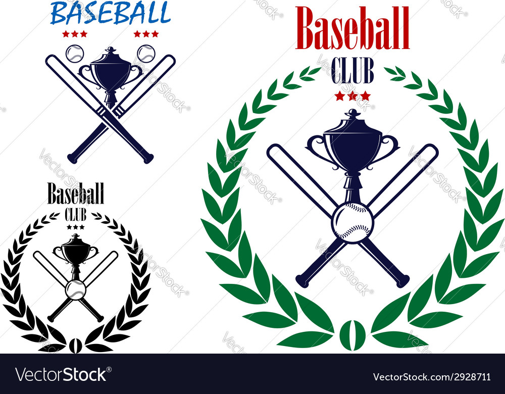 Baseball sport club emblem vector | Price: 1 Credit (USD $1)