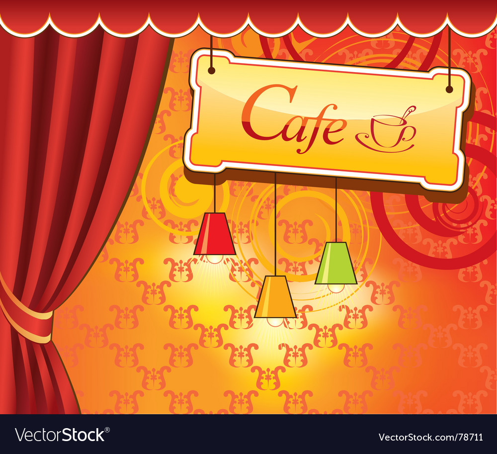 Cafe design vector | Price: 1 Credit (USD $1)