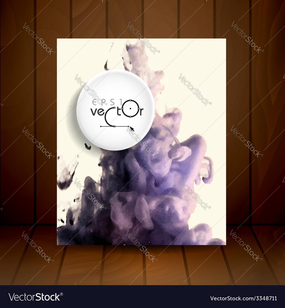 Cloud of ink in water vector   Price: 1 Credit (USD $1)
