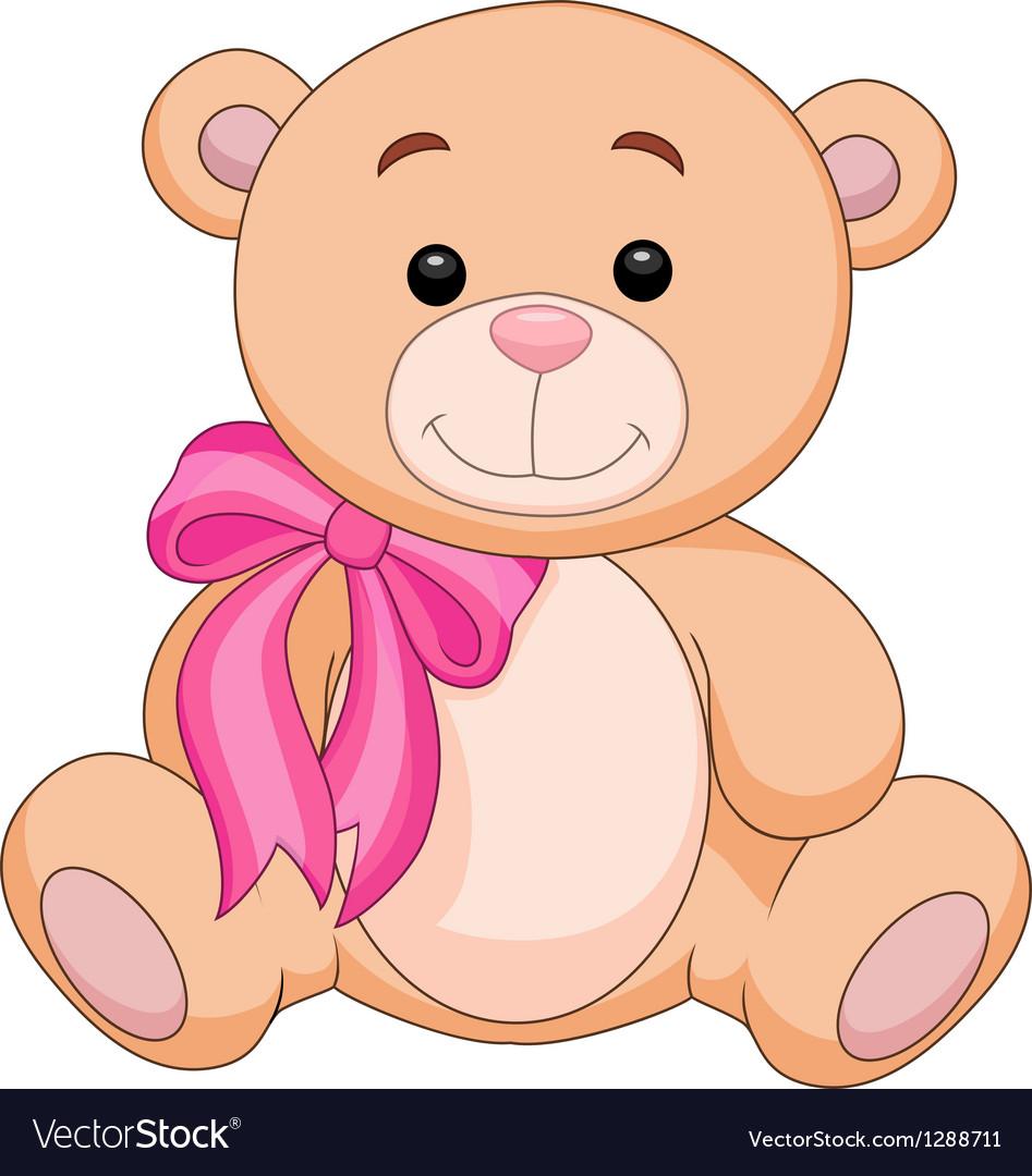 Cute brown bear stuff cartoon vector   Price: 1 Credit (USD $1)